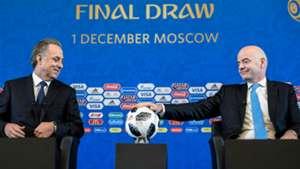 Vitaly Mutko Gianni Infantino FIFA president World Cup draw