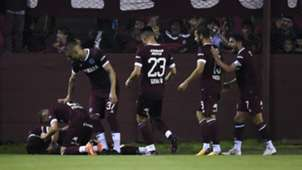 festejo Lanus River Plate Superliga 28092018