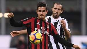 André Silva Giorgio Chiellini Milan Juventus