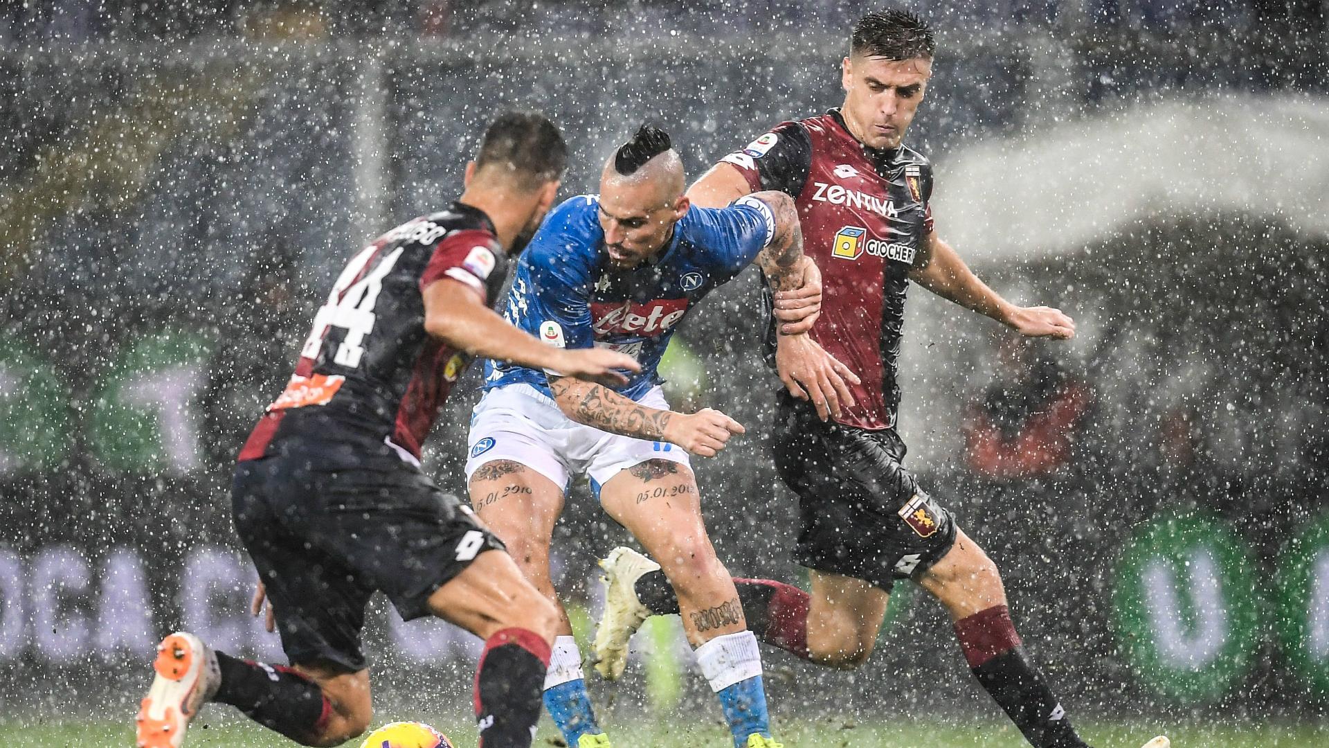 Marek Hamsik Krzysztof Piatek Genoa Napoli Serie A