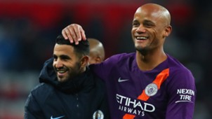 Riyad Mahrez, Vincent Kompany, Man City