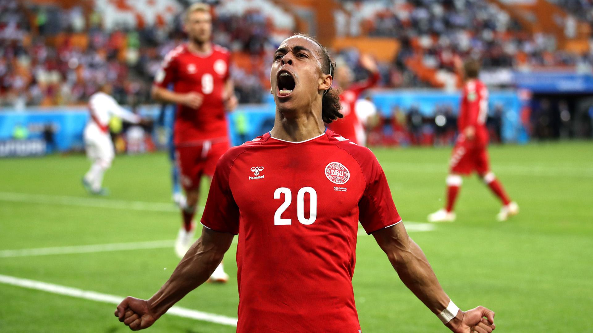 Yussuf Poulsen Peru Denmark World Cup 2018