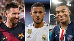 Lionel Messi Eden Hazard Kylian Mbappe GFX