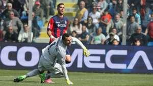 Falcinelli Handanovic Crotone Inter Serie A 2017/04/09