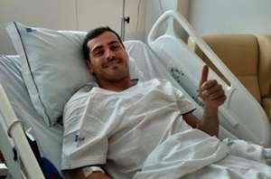 Iker Casillas hospital