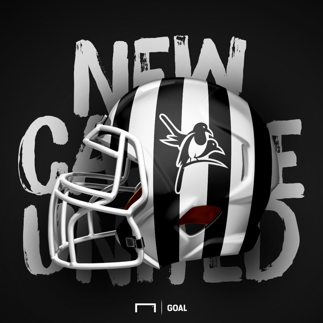 Newcastle United NFL Super Bowl / football helmet
