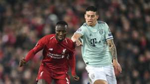 James Rodríguez Liverpool - Bayern Munich Champions League