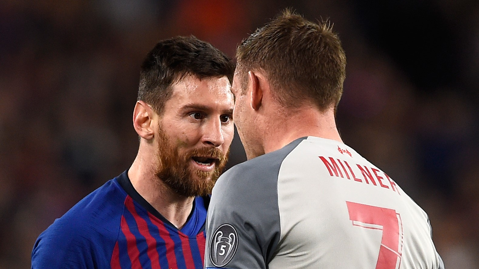Lionel Messi James Milner Barcelona Liverpool UCL 01052019