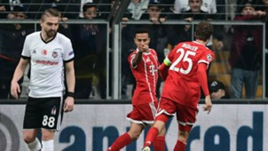 Thiago celebration Besiktas vs Bayern Munich UCL 03142018