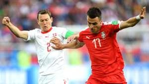 Stephan Lichtsteiner Switzerland Filip Kostic Serbia World Cup