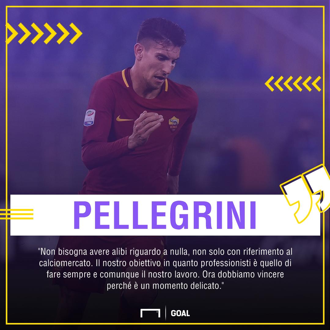 Roma, Pellegrini in difesa: