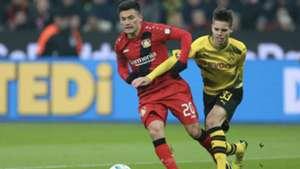 Charles Aránguiz Bayer Leverkusen Julian Weigl Borussia Dortmund 021217