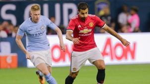 Kevin de Bruyne, Henrikh Mkhitaryan, ICC, Manchester United - Manchester City, 28072017