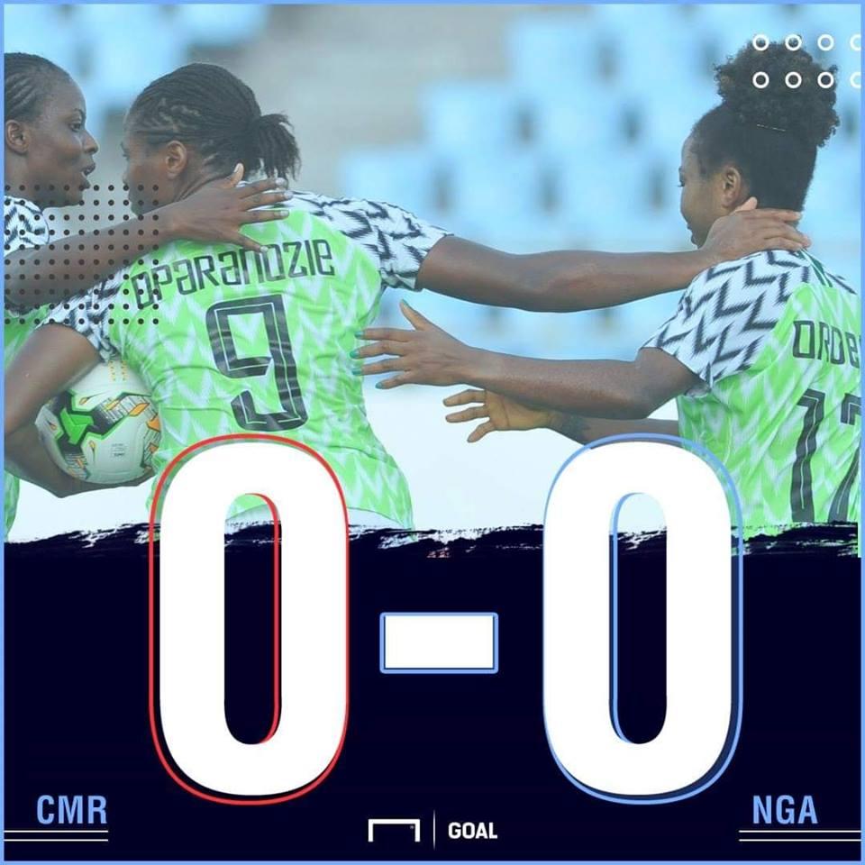 Nigeria Cameroon AWCON scoreline PS