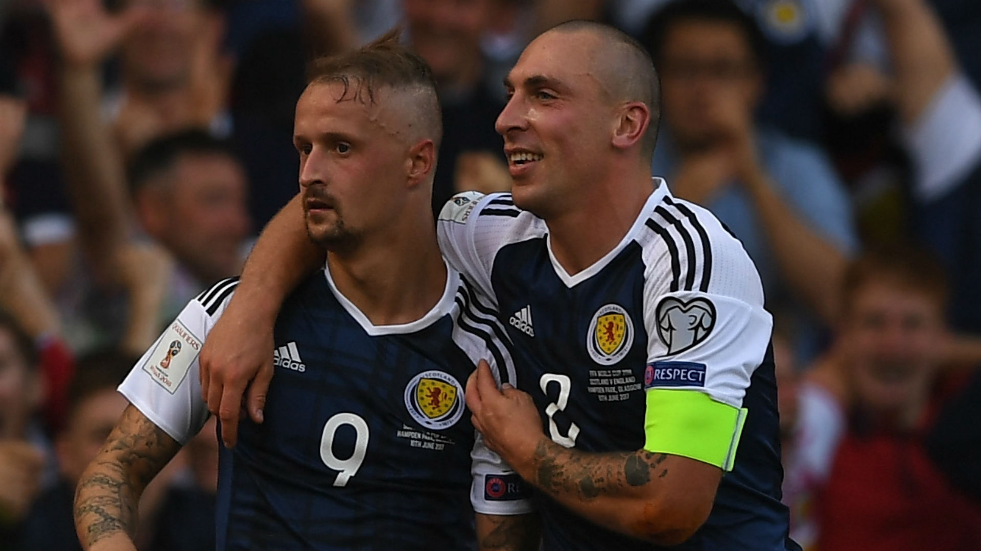 Leigh Griffiths Scot Brown Scotland