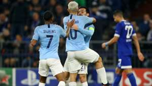 Manchester City celebrating Schalke 04 Manchester City Champions League