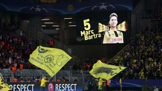 Borussia Dortmund Signal Iduna Park Marc Bartra tribute