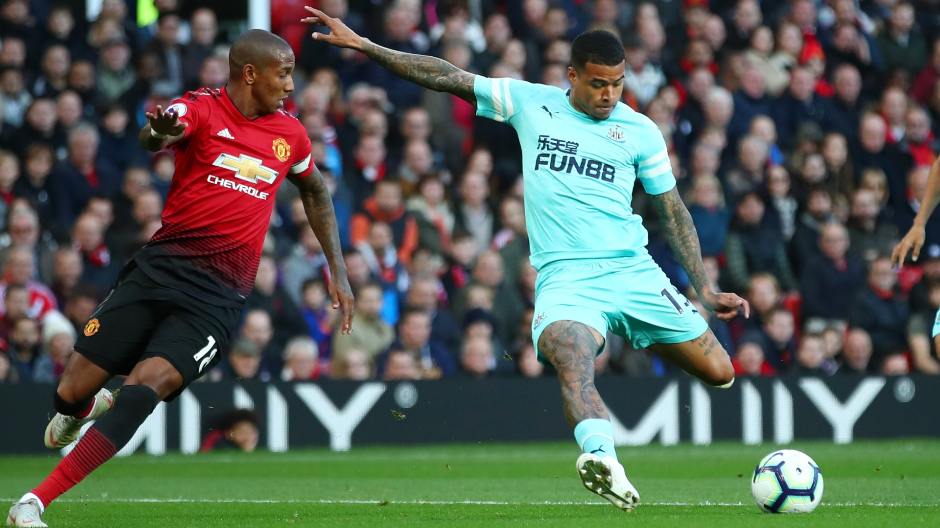 Ashley Young, Man Utd, Kenedy, Newcastle United