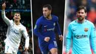 Ronaldo, Hazard, Messi