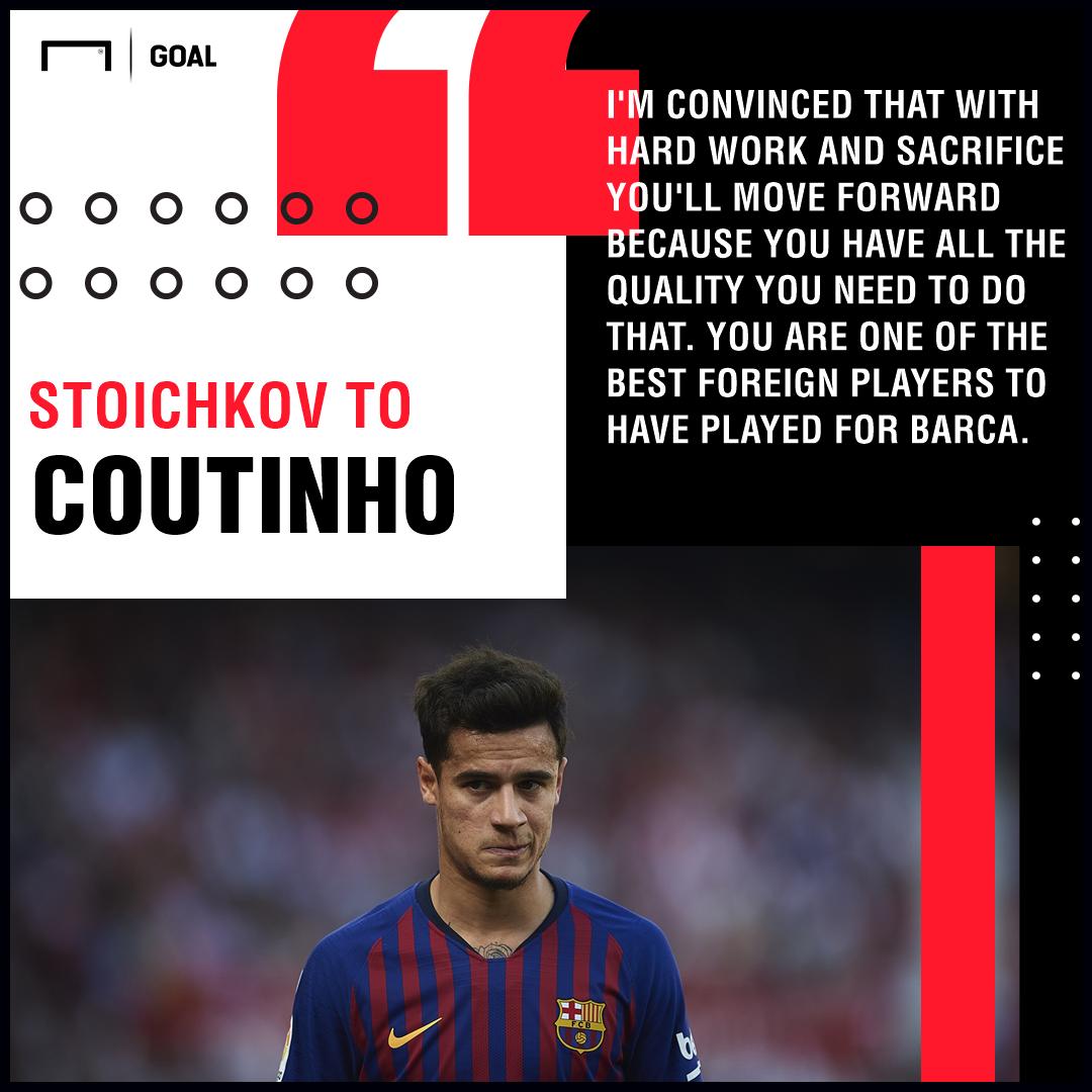 Hristo Stoichkov Philippe Coutinho Barcelona PS