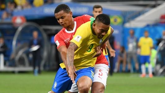 Gabriel Jesus Brazil Manuel Akanji Switzerland World Cup 2018