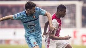 Jan-Arie van der Heijden David Neres Jan-Arie van der Heijden David Neres Ajax Feyenoord Eredivisie