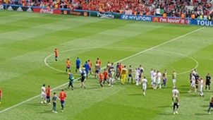 Spain fan at pitch