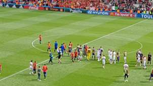 Spain fan at pitch