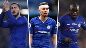 Hazard Jorginho Kante Chelsea