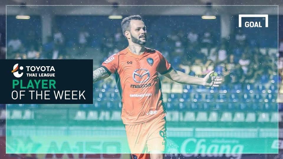 ผลการค้นหารูปภาพสำหรับ Toyota Thai League Player of the Week 13 : เปาโล รานเกล