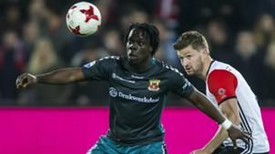 Elvis Manu, Jan-Arie van der Heijden, Feyenoord - Go Ahead Eagles, Eredivisie, 04052017