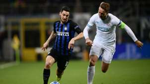 Matteo Politano Luuk De Jong Inter PSV Champions League