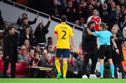 Expulsión Simeone Arsenal Atletico