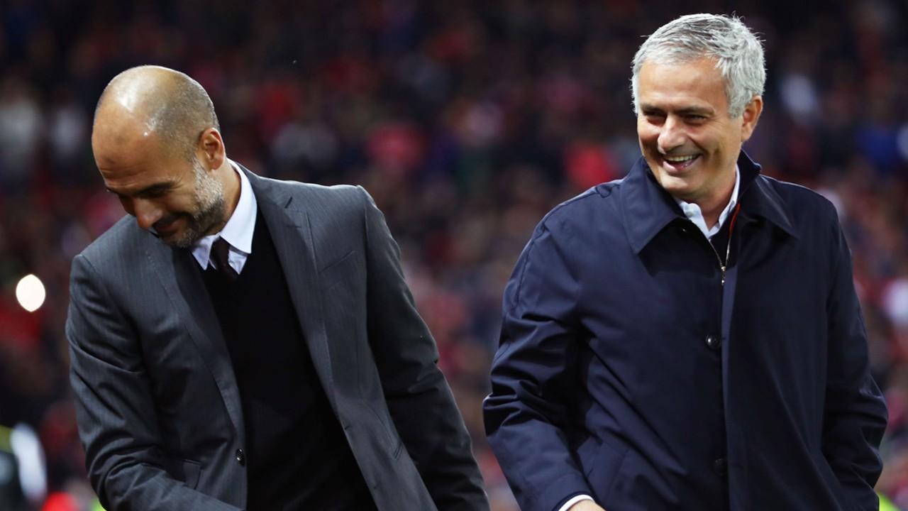 Pep Guardiola Manchester City Jose Mourinho Manchester United