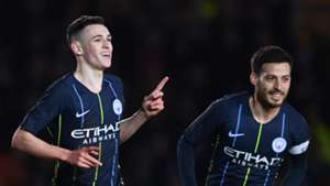 Phil Foden, David Silva, Man City