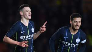 Phil Foden, David Silva, Man City
