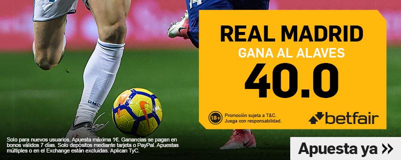 Betfair Real Madrid Alaves