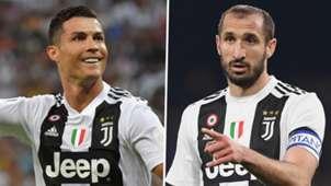 Cristiano Ronaldo Giorgio Chiellini Juventus