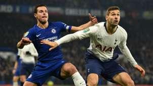 Cesar Azpilicueta Fernando Llorente Chelsea Tottenham 2018-19