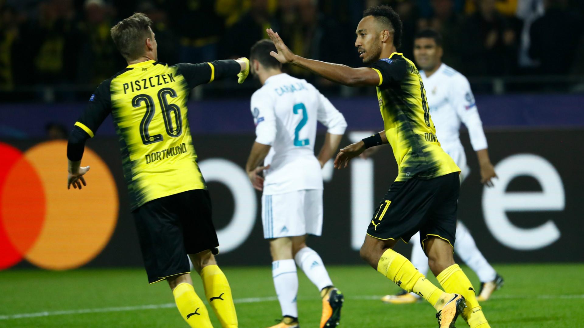 Pierre Emerick Aubameyang Lukasz Piszczek Borussia Dortmund Real Madrid Champions League 26092017