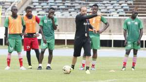 Sebastien Migne of Harambee Stars in training.j