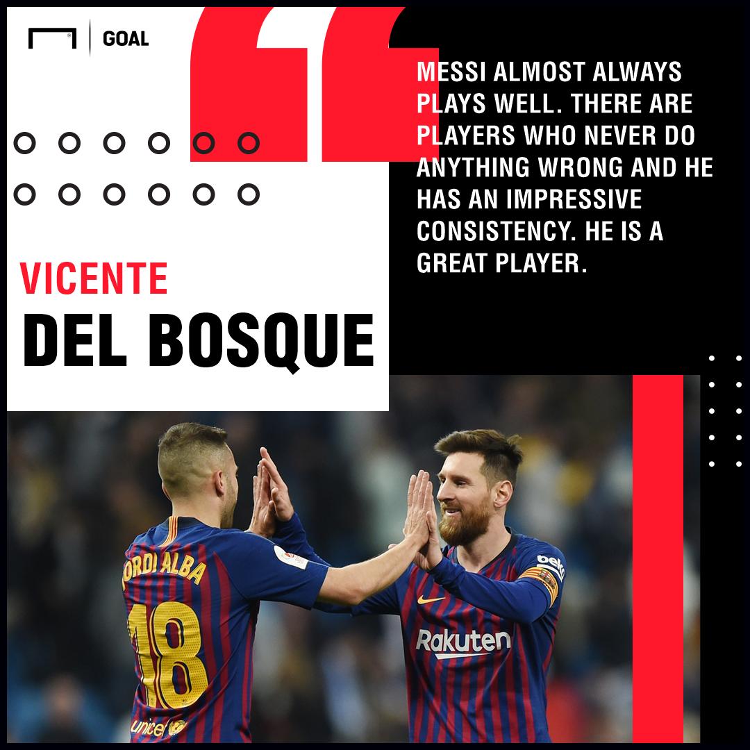 Lionel Messi Del Bosque Barcelona PS