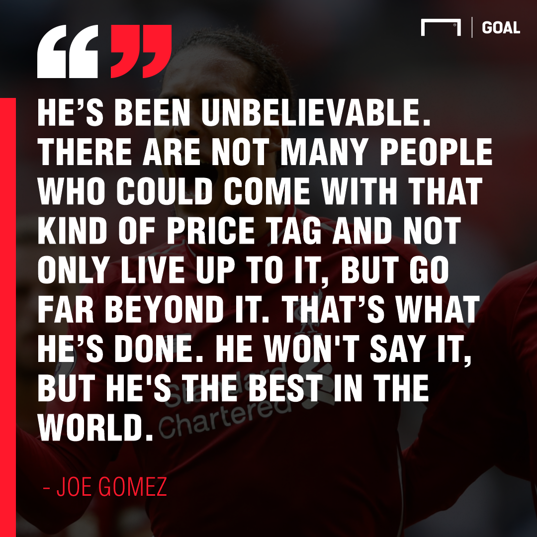 Joe Gomez on Virgil Van Dijk 2019