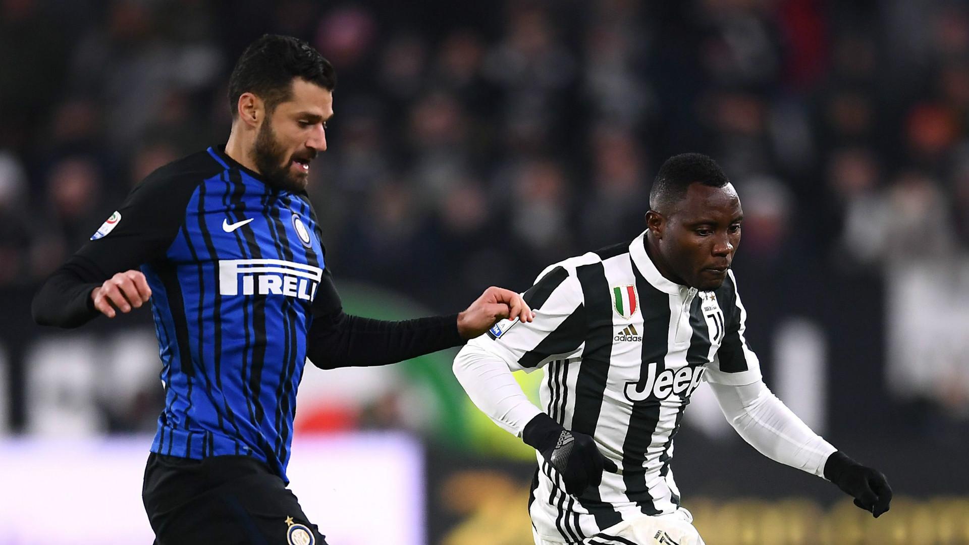 Antonio Candreva, Kwadwo Asamoah, Juventus, Inter, Serie A, 09122017