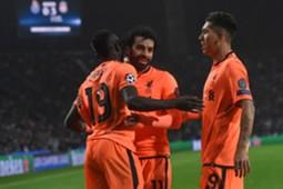 Sadio Mane & Mohamed Salah & Roberto Firmino