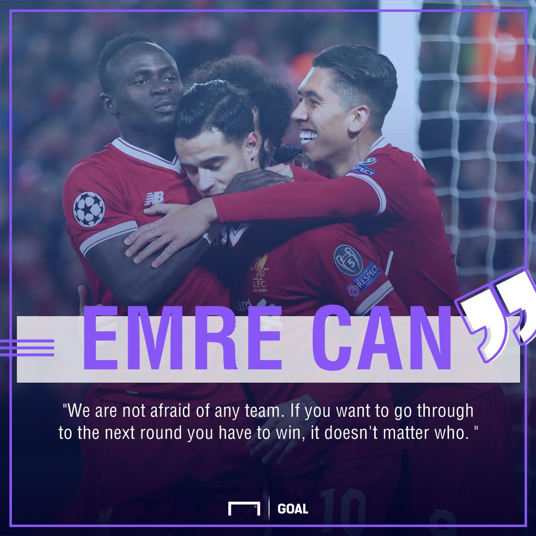 Emre Can Liverpool Champions League no fear