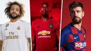 3aa0faf5 New 2019-20 football kits: Real Madrid, Manchester United, Barcelona ...