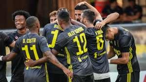 Juventus celebrating Chievo Juventus Serie A 08182018
