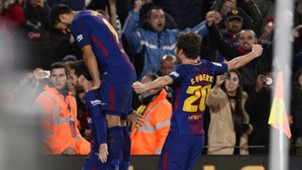 FC Barcelona Lionel Messi Luis Suarez Sergi Robero 28012018