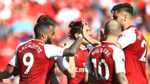 Arsenal celebrate v Burnley